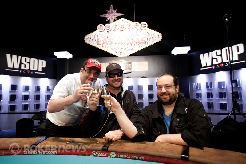 Phil Hellmuth, Todd Brunson and Mike Matusow